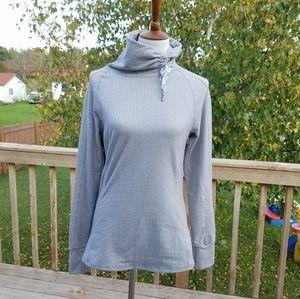 Kyodan Grey Herringbone Turtleneck Pullover